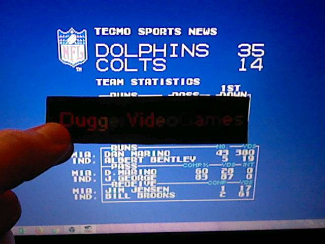 DuggerVideoGames: Tecmo Super Bowl [Most yards Rushing In a Preseason Game] (NES/Famicom Emulated) 380 points on 2018-01-16 03:09:04
