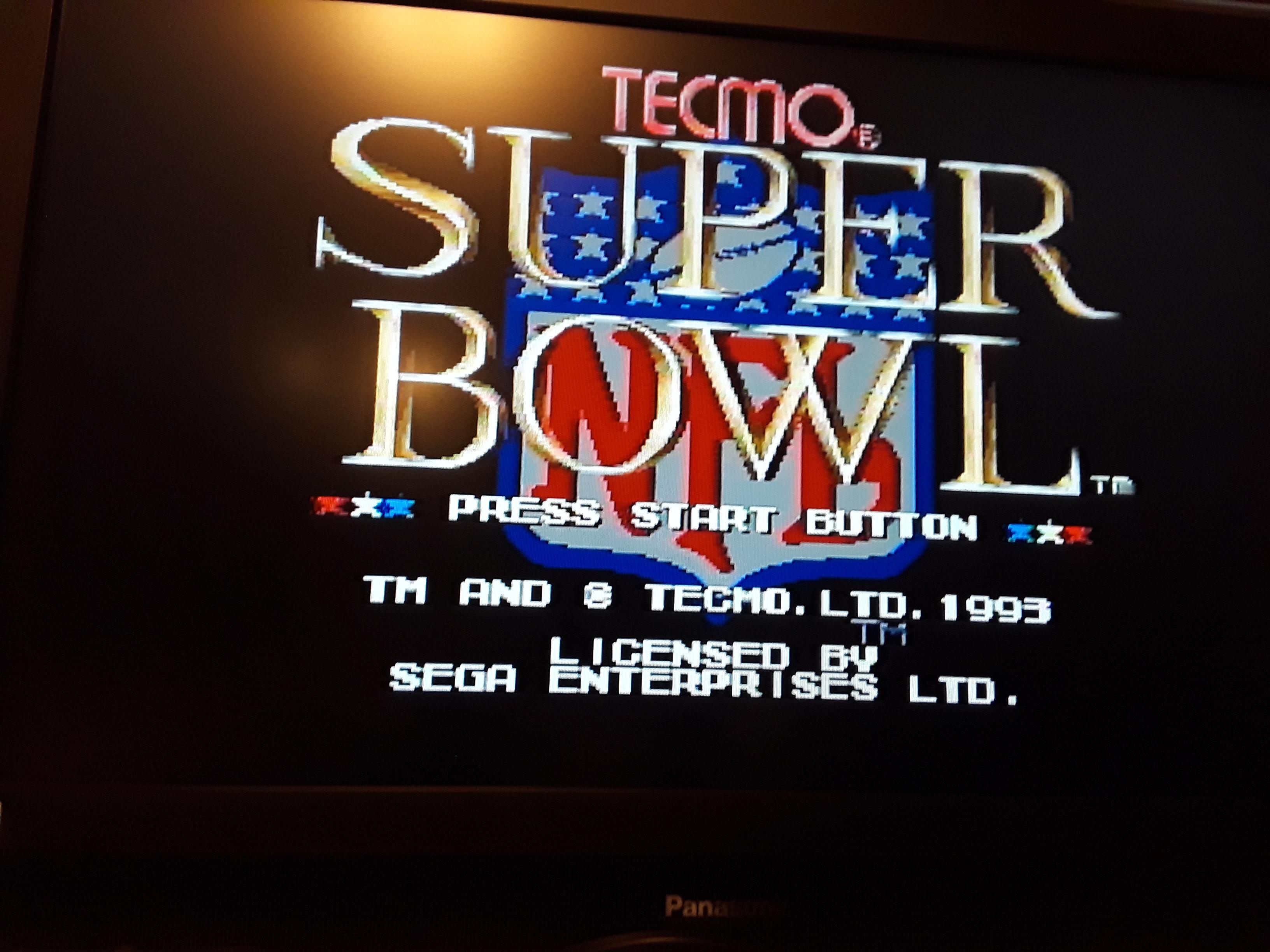 Tecmo Super Bowl [Passing Percentage] [Pro Bowl] 83 points
