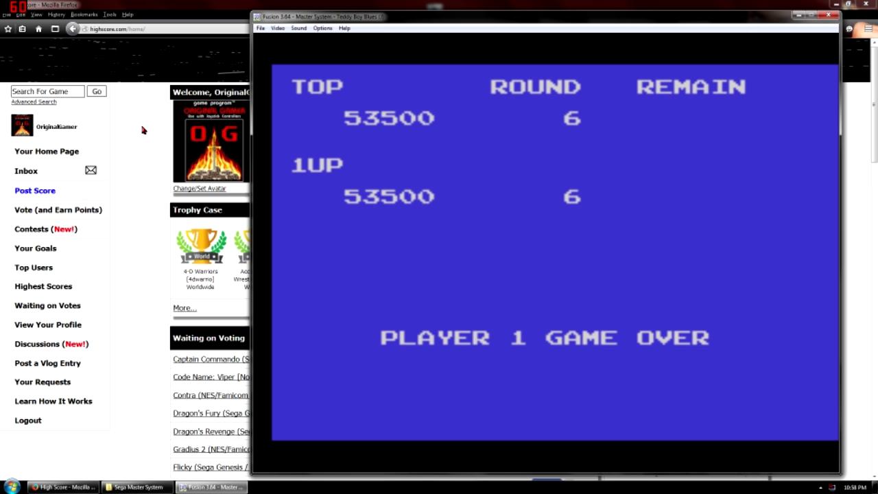 OriginalGamer: Teddy Boy Blues (Sega Master System Emulated) 53,500 points on 2015-10-03 18:40:17