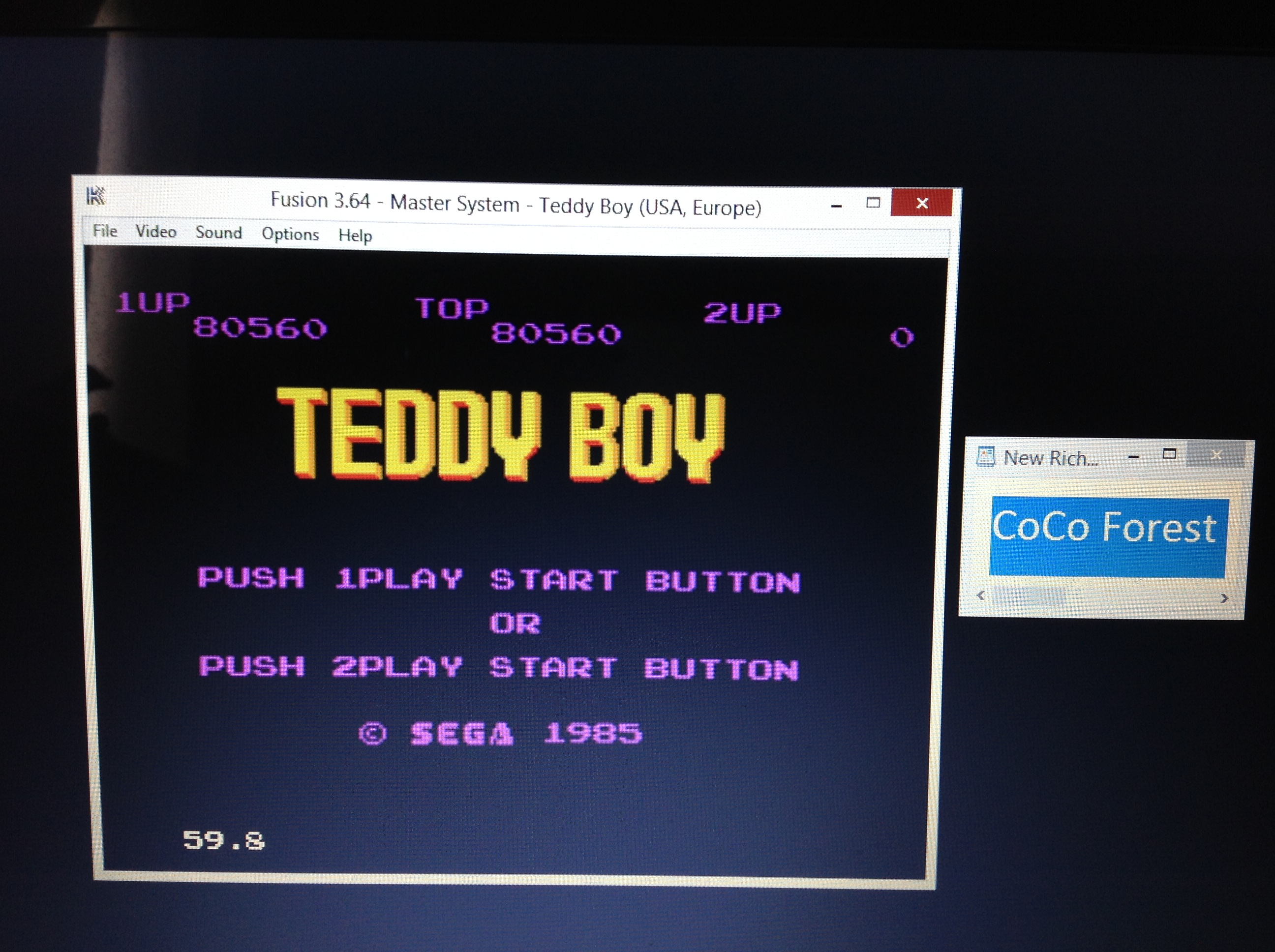 CoCoForest: Teddy Boy (Sega Master System Emulated) 80,560 points on 2018-10-11 03:13:03