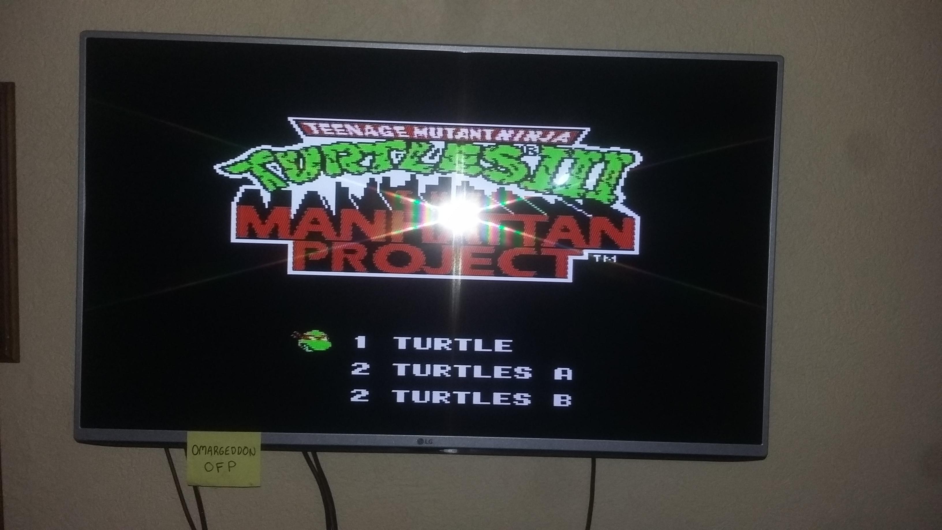 omargeddon: Teenage Mutant Ninja Turtles 3: The Manhattan Project (NES/Famicom) 32,000 points on 2016-12-18 12:43:42