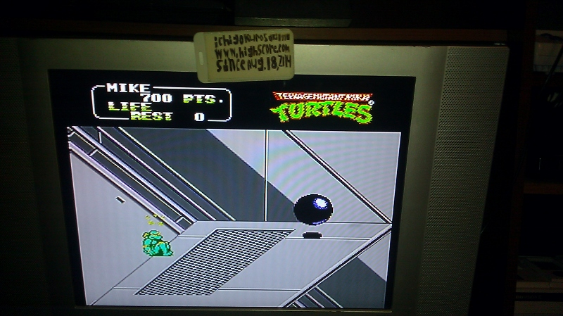 ichigokurosaki1991: Teenage Mutant Ninja Turtles II: The Arcade Game (NES/Famicom Emulated) 700 points on 2016-09-22 12:37:55