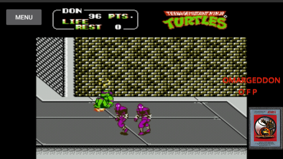 omargeddon: Teenage Mutant Ninja Turtles II: The Arcade Game (NES/Famicom Emulated) 96 points on 2017-05-29 10:54:26