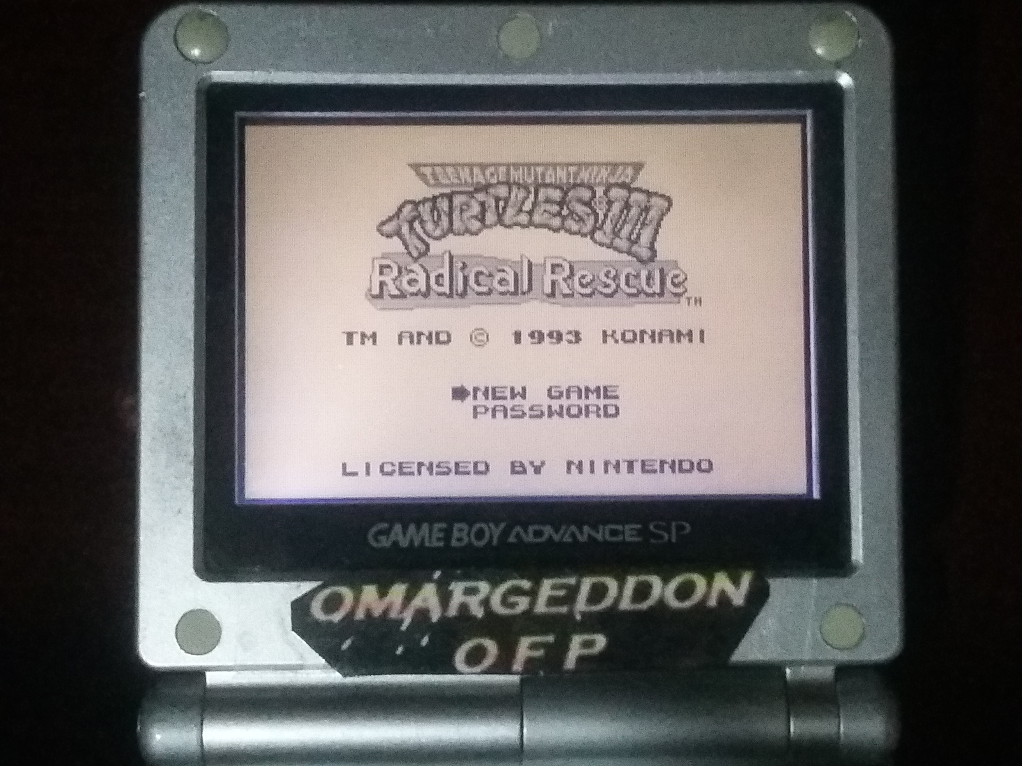 omargeddon: Teenage Mutant Ninja Turtles III: Radical Rescue (Game Boy) 9,150 points on 2018-01-15 00:02:31