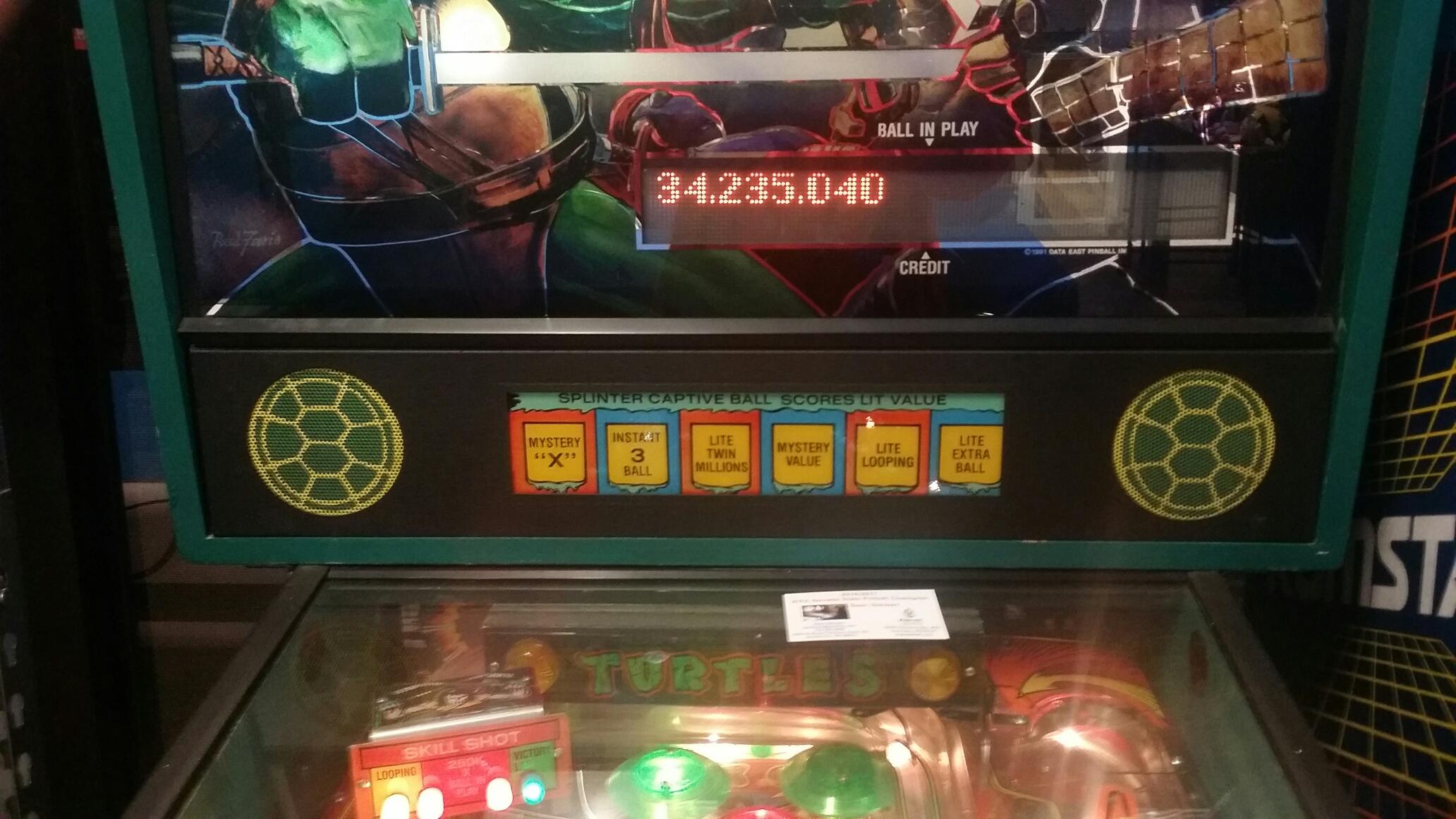 Teenage Mutant Ninja Turtles 34,235,040 points