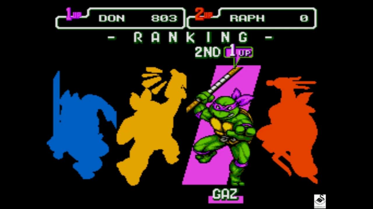 Teenage Mutant Ninja Turtles The Hyperstone Heist Sega Genesis Megadrive Emulated High Score By Gazzhally