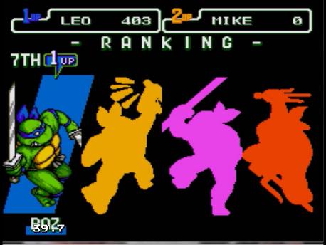 S.BAZ: Teenage Mutant Ninja Turtles: The Hyperstone Heist (Sega Genesis / MegaDrive Emulated) 403 points on 2019-08-01 18:46:43