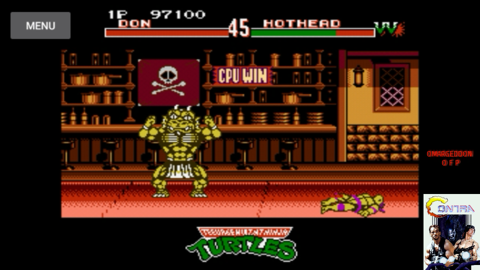 omargeddon: Teenage Mutant Ninja Turtles: Tournament Fighters (NES/Famicom Emulated) 97,100 points on 2017-07-15 15:49:35
