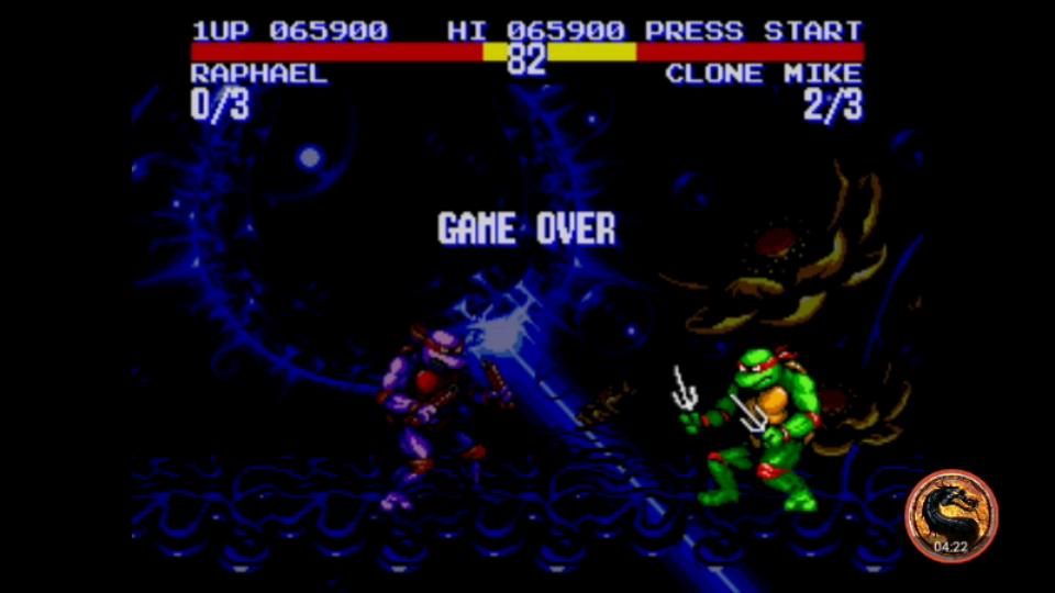 omargeddon: Teenage Mutant Ninja Turtles: Tournament Fighters (Sega Genesis / MegaDrive Emulated) 65,900 points on 2019-01-28 19:22:33