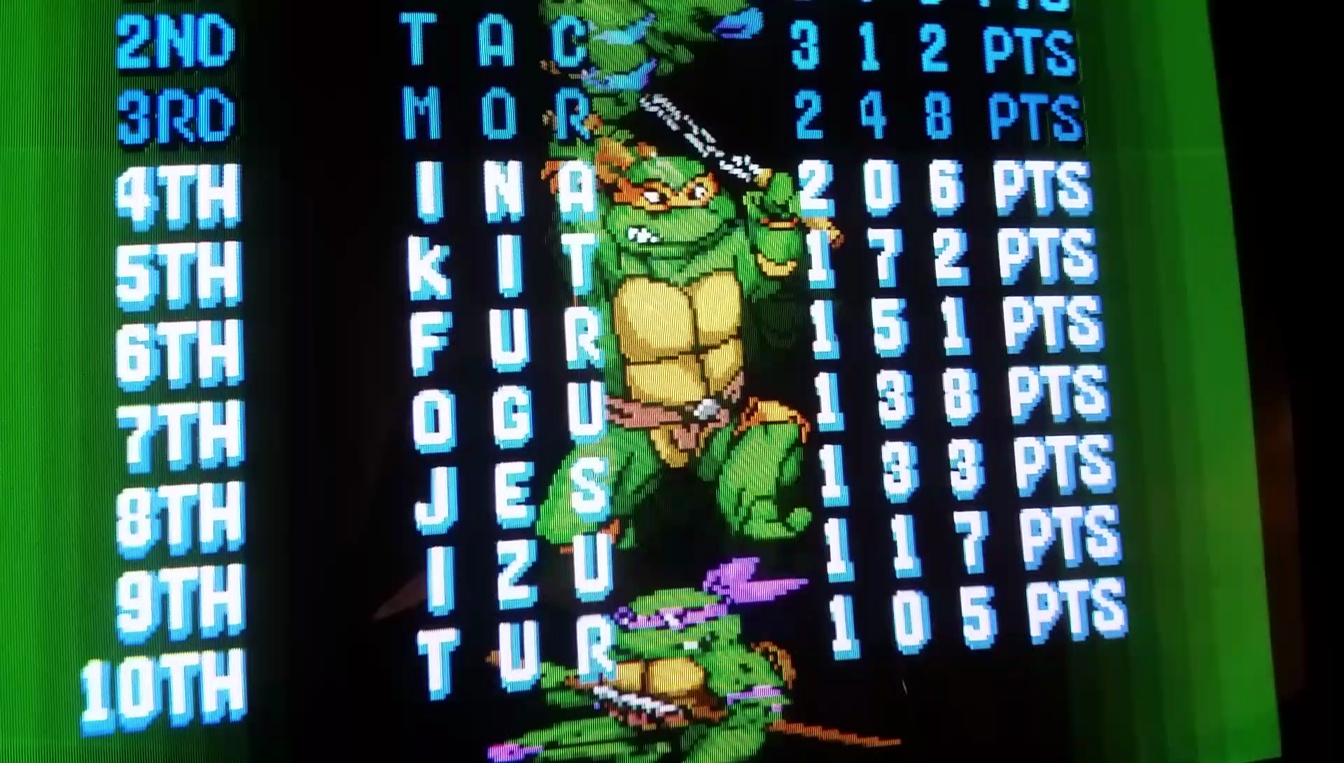 JES: Teenage Mutant Ninja Turtles: Turtles In Time [tmnt2] (Arcade Emulated / M.A.M.E.) 133 points on 2017-02-18 13:19:27
