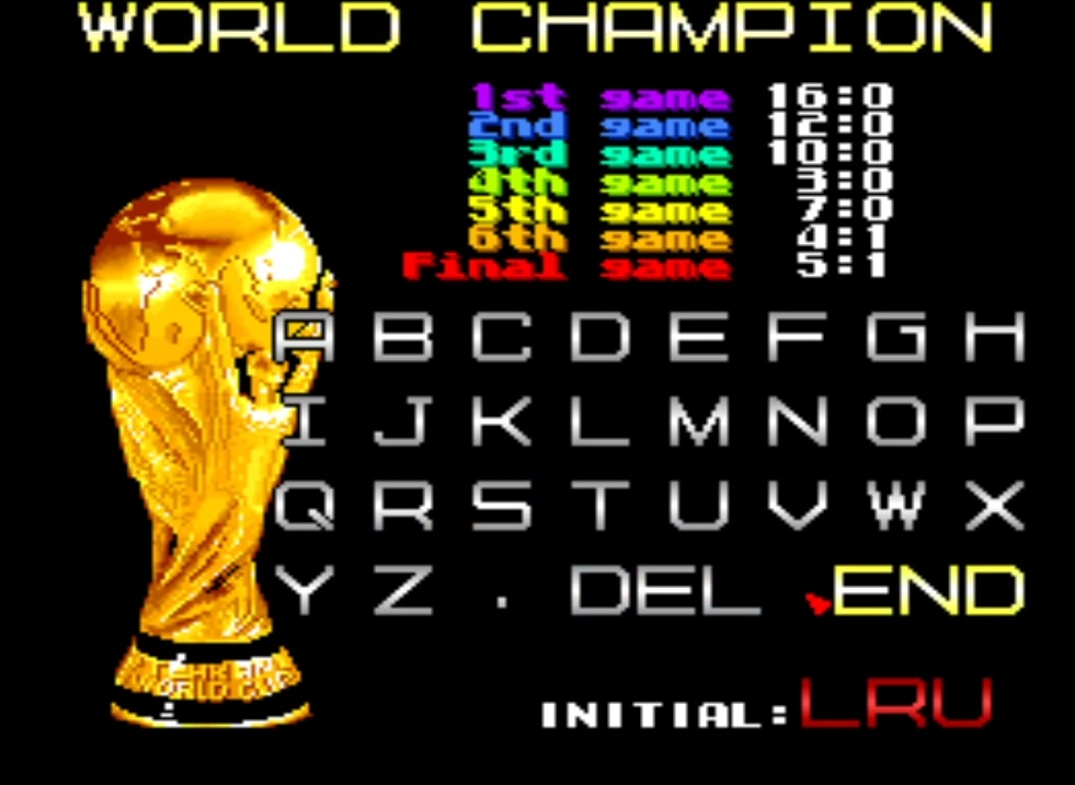 LuigiRuffolo: Tehkan World Cup: Fifth Match [Point Difference] [tehkanwc] (Arcade Emulated / M.A.M.E.) 7 points on 2020-12-25 05:14:33
