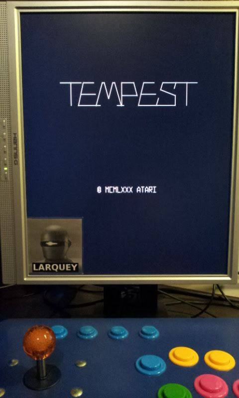 Larquey: Tempest (Arcade Emulated / M.A.M.E.) 16,877 points on 2017-10-11 14:11:49