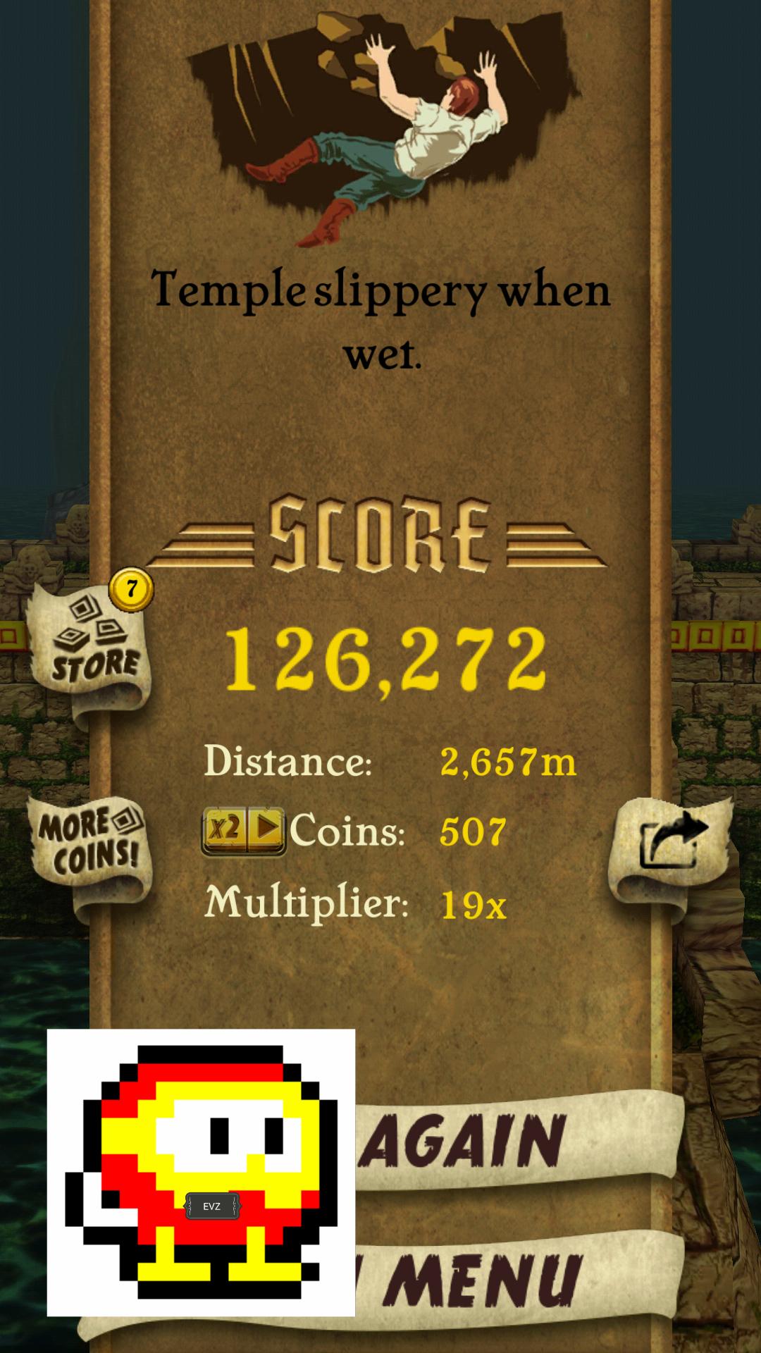 Temple Run 126,272 points