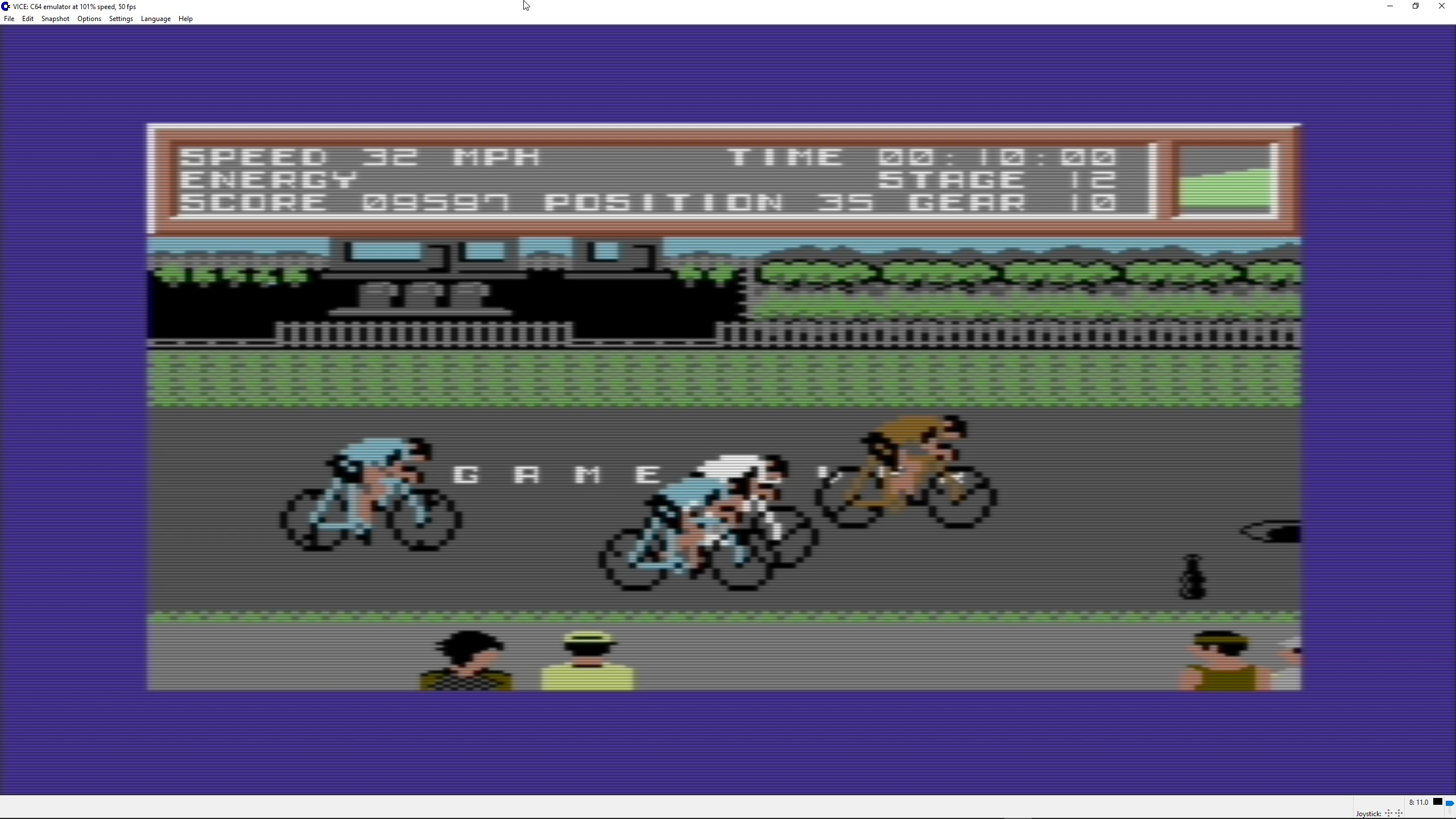 ILLSeaBass: Ten Speed (Commodore 64 Emulated) 9,597 points on 2018-04-22 00:45:50