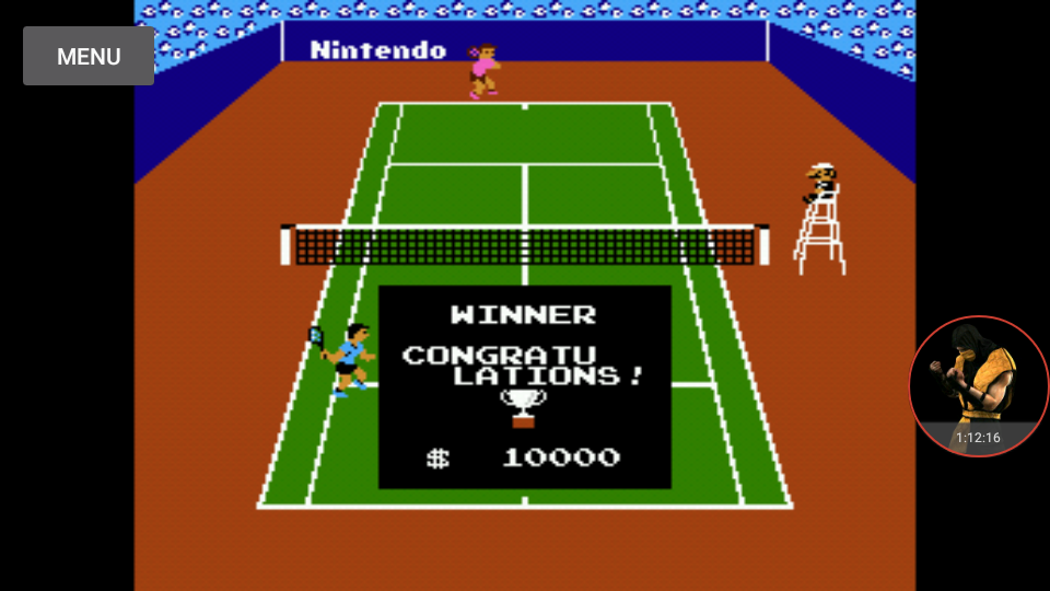 omargeddon: Tennis: Level 1 [Games Won] (NES/Famicom Emulated) 27 points on 2017-11-29 23:19:46