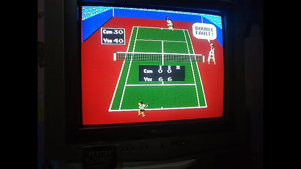 omargeddon: Tennis: Level 1 [Games Won] (NES/Famicom) 12 points on 2019-06-04 20:43:21