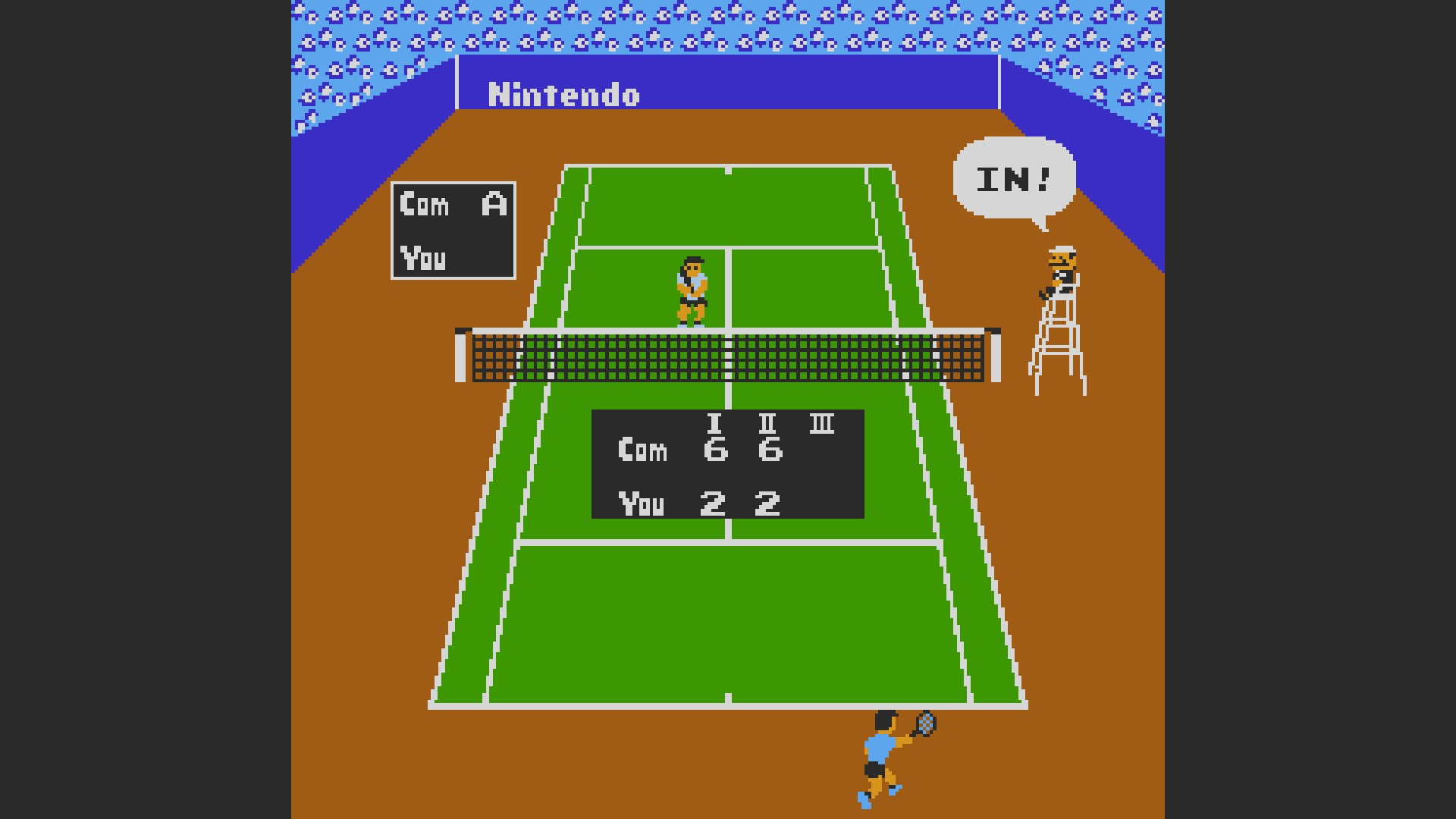 AkinNahtanoj: Tennis: Level 2 [Games Won] (NES/Famicom Emulated) 16 points on 2020-09-23 09:20:52