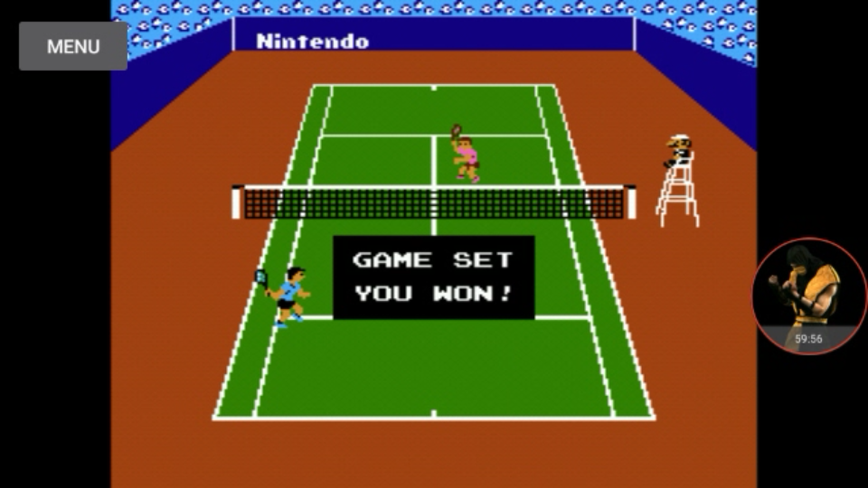 omargeddon: Tennis: Level 2 [Games Won] (NES/Famicom Emulated) 18 points on 2017-12-01 00:00:45
