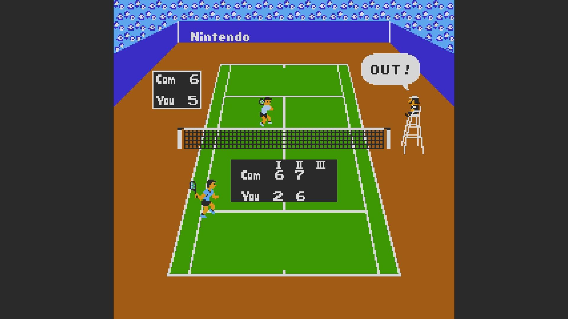 AkinNahtanoj: Tennis: Level 3 [Games Won] (NES/Famicom Emulated) 8 points on 2020-09-23 12:28:13