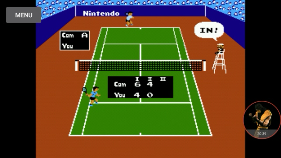 omargeddon: Tennis: Level 3 [Games Won] (NES/Famicom Emulated) 4 points on 2017-12-01 14:06:18
