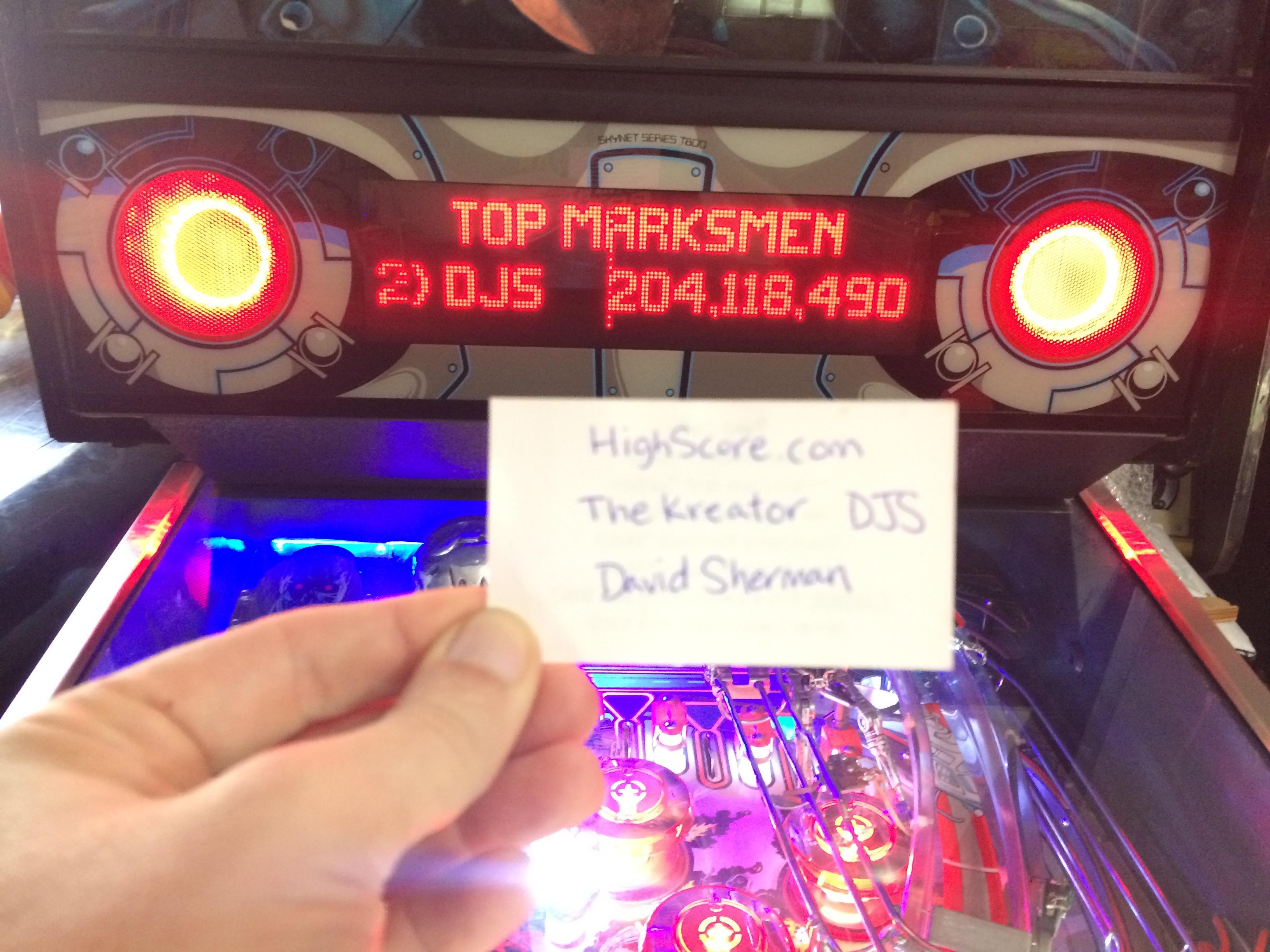 thekreator: Terminator 2: Judgement Day (Pinball: 3 Balls) 214,423,150 points on 2017-06-05 18:28:14