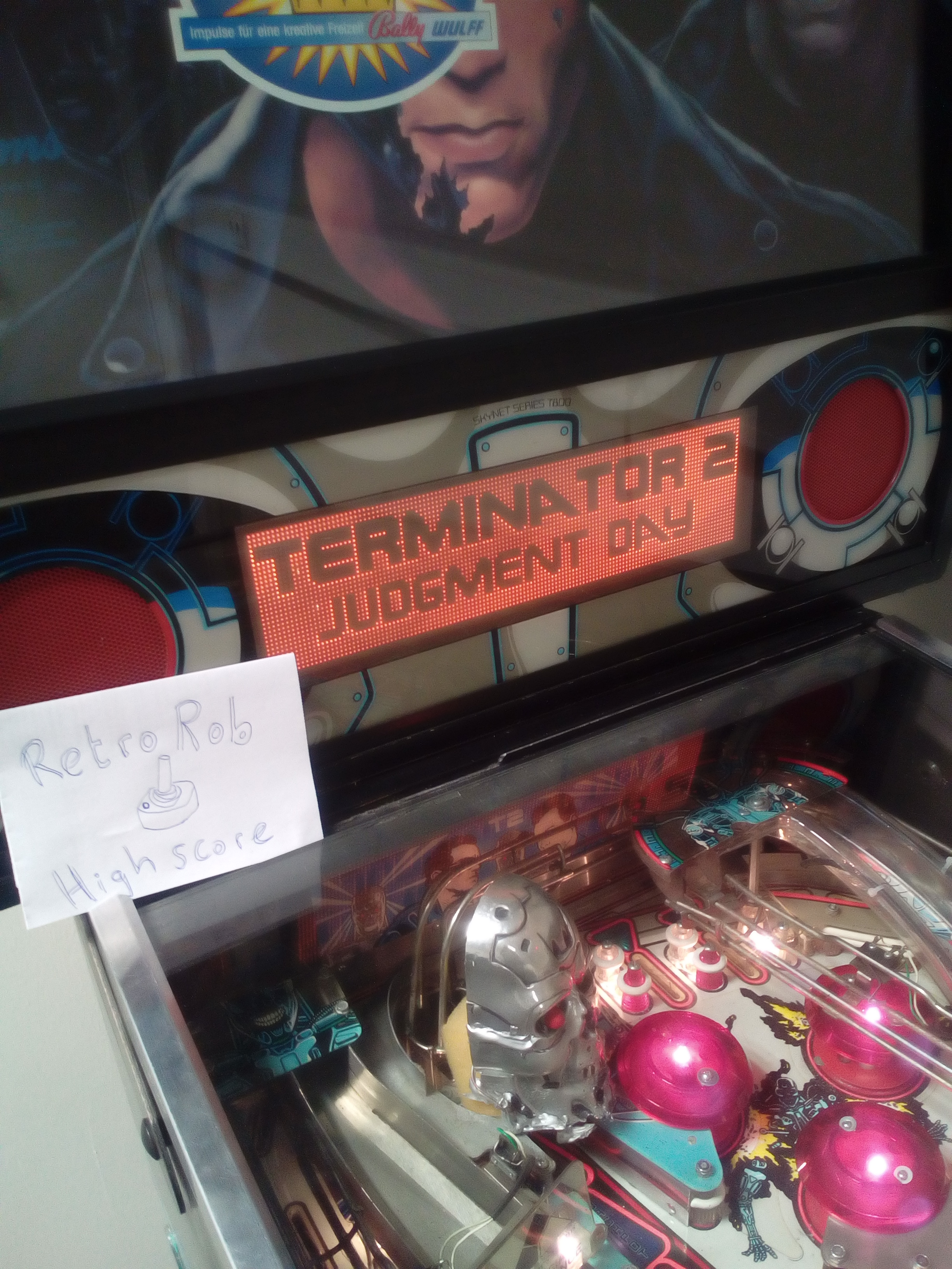 RetroRob: Terminator 2: Judgement Day (Pinball: 3 Balls) 9,657,680 points on 2018-10-15 03:54:47