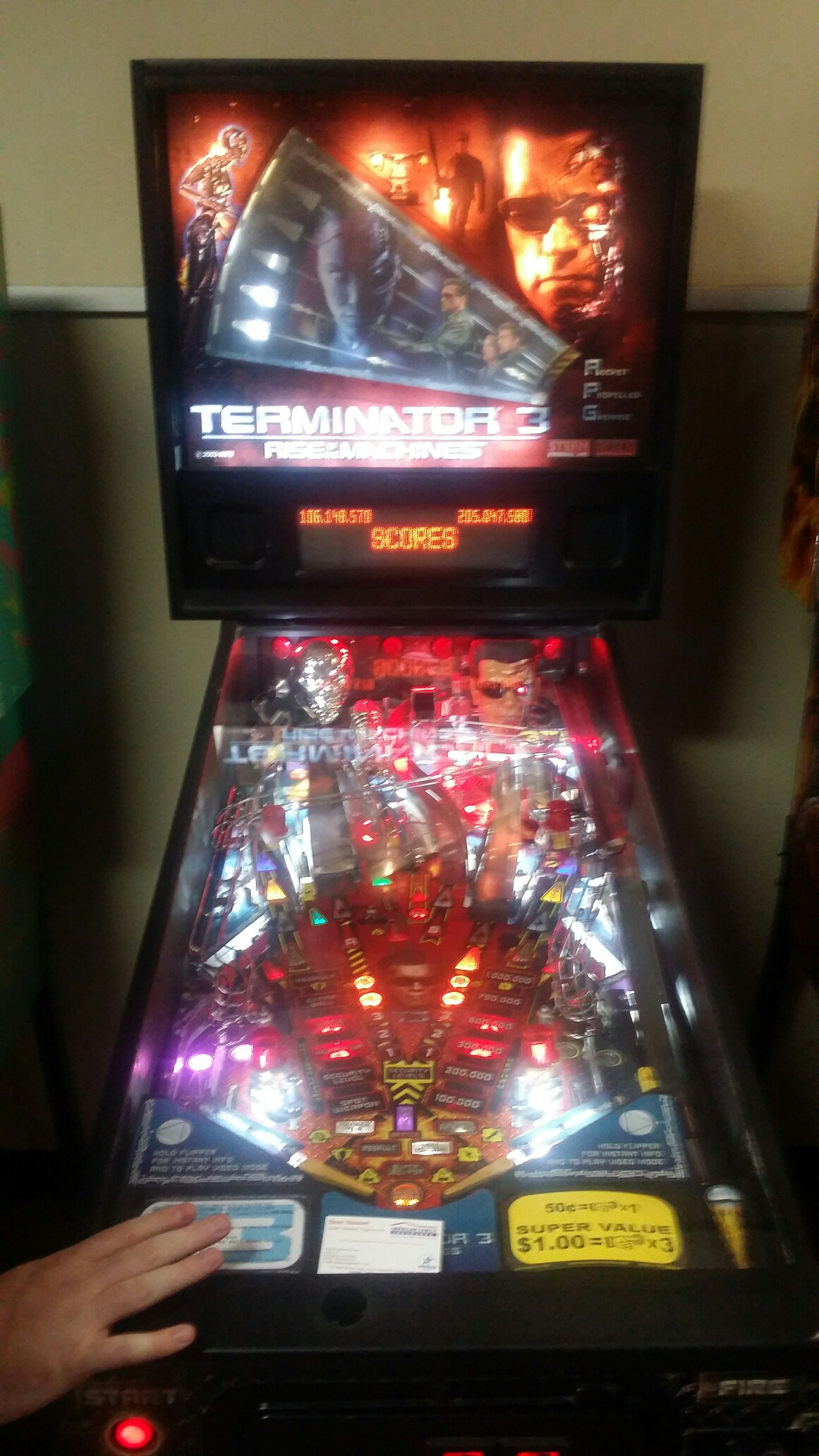 SeanStewart: Terminator 3: Rise of the Machines (Pinball: 3 Balls) 205,047,580 points on 2018-03-15 15:24:04