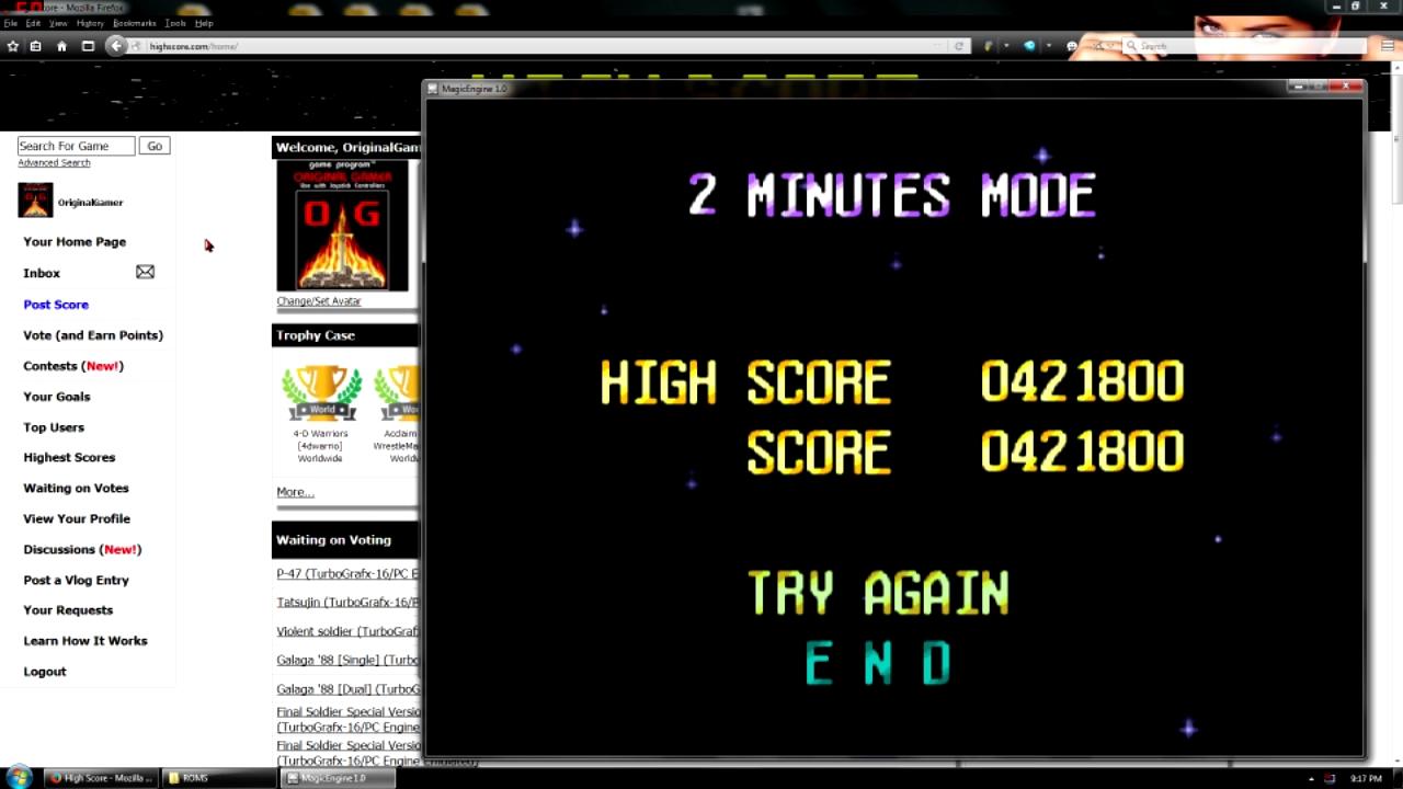 OriginalGamer: Terra Cresta II [2 Minutes Mode] (TurboGrafx-16/PC Engine Emulated) 421,800 points on 2016-05-02 23:36:02