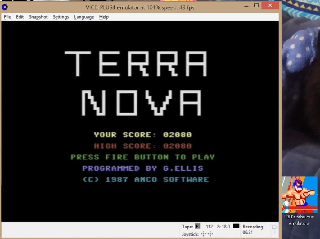 LuigiRuffolo: Terra Nova (Commodore 16/Plus4 Emulated) 2,080 points on 2020-07-08 09:38:31