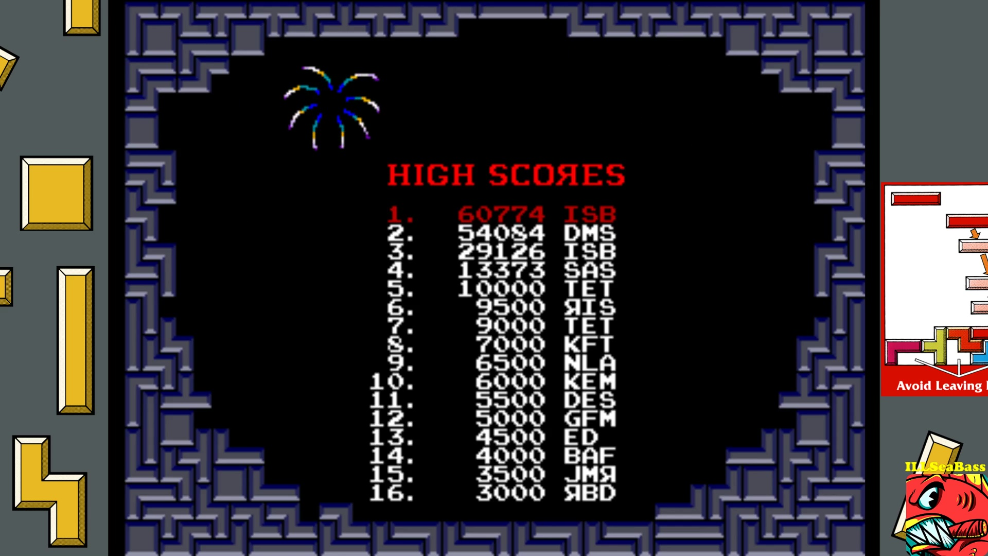 ILLSeaBass: Tetris (Arcade Emulated / M.A.M.E.) 60,774 points on 2017-09-30 10:06:54