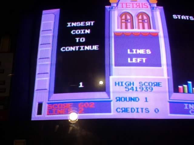 Tetris 602 points
