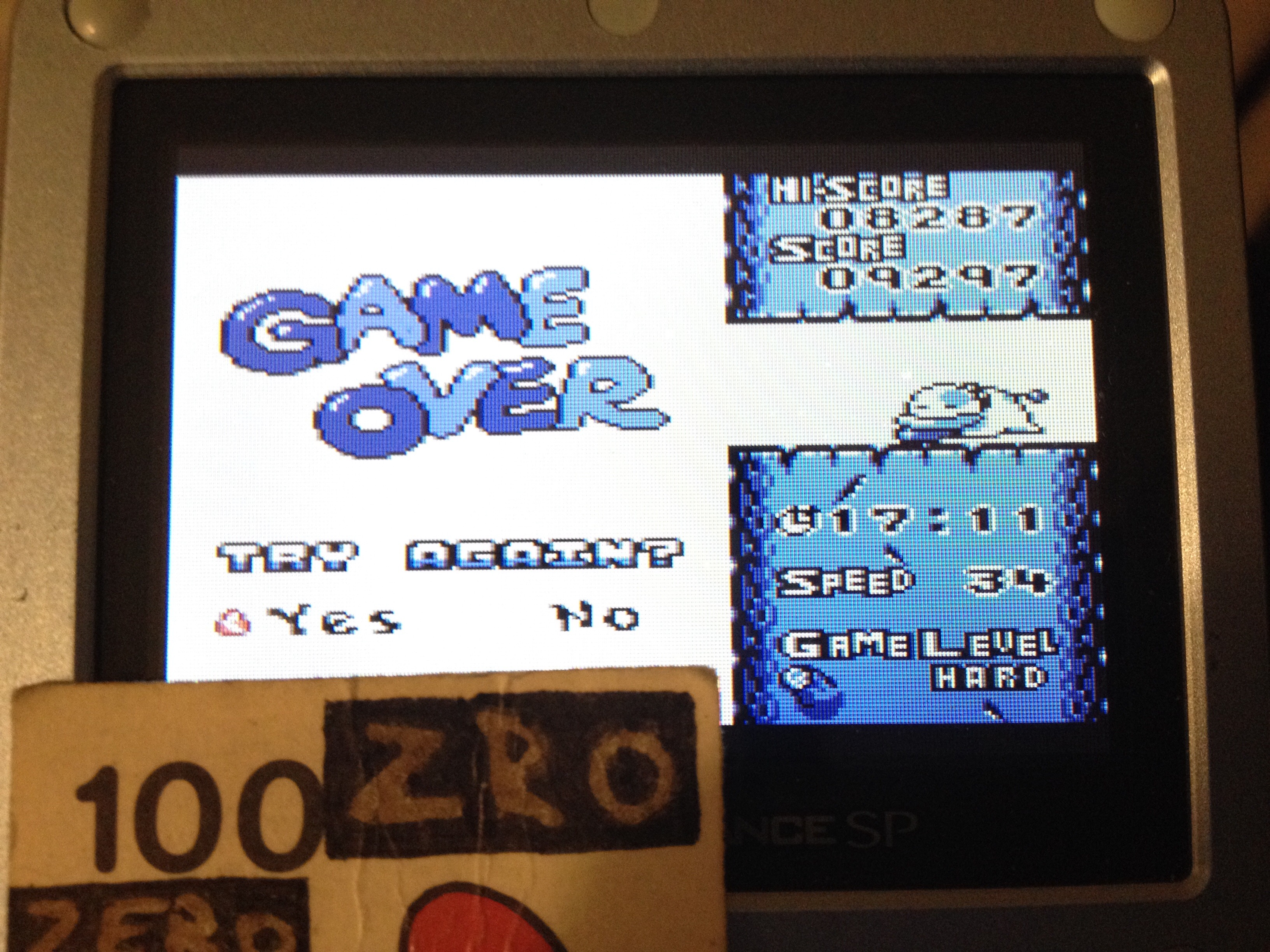 zerooskul: Tetris Attack: Endless [Hard] (Game Boy) 9,297 points on 2019-05-08 20:56:10