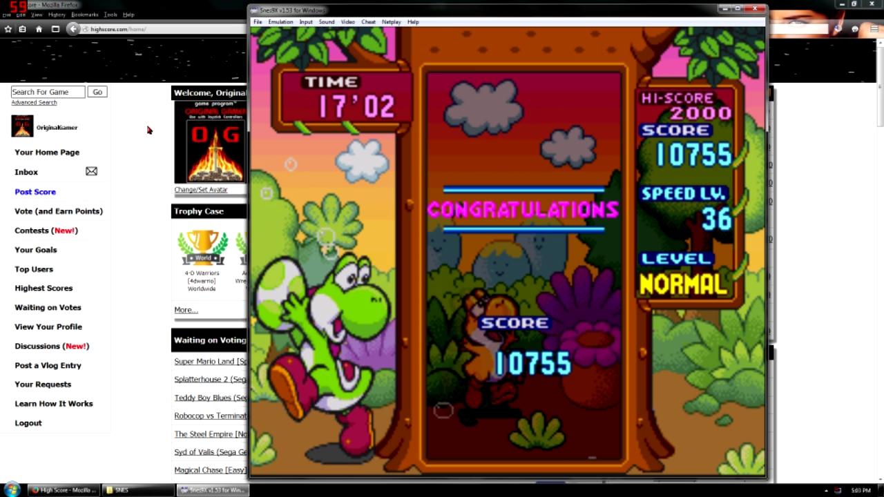 OriginalGamer: Tetris Attack (SNES/Super Famicom Emulated) 10,755 points on 2015-10-30 13:14:56