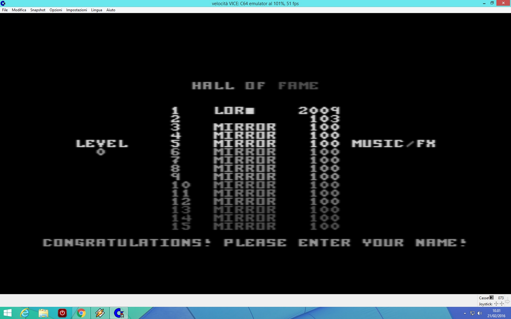 lenny2571: Tetris (Commodore 64 Emulated) 2,009 points on 2016-02-21 03:03:49