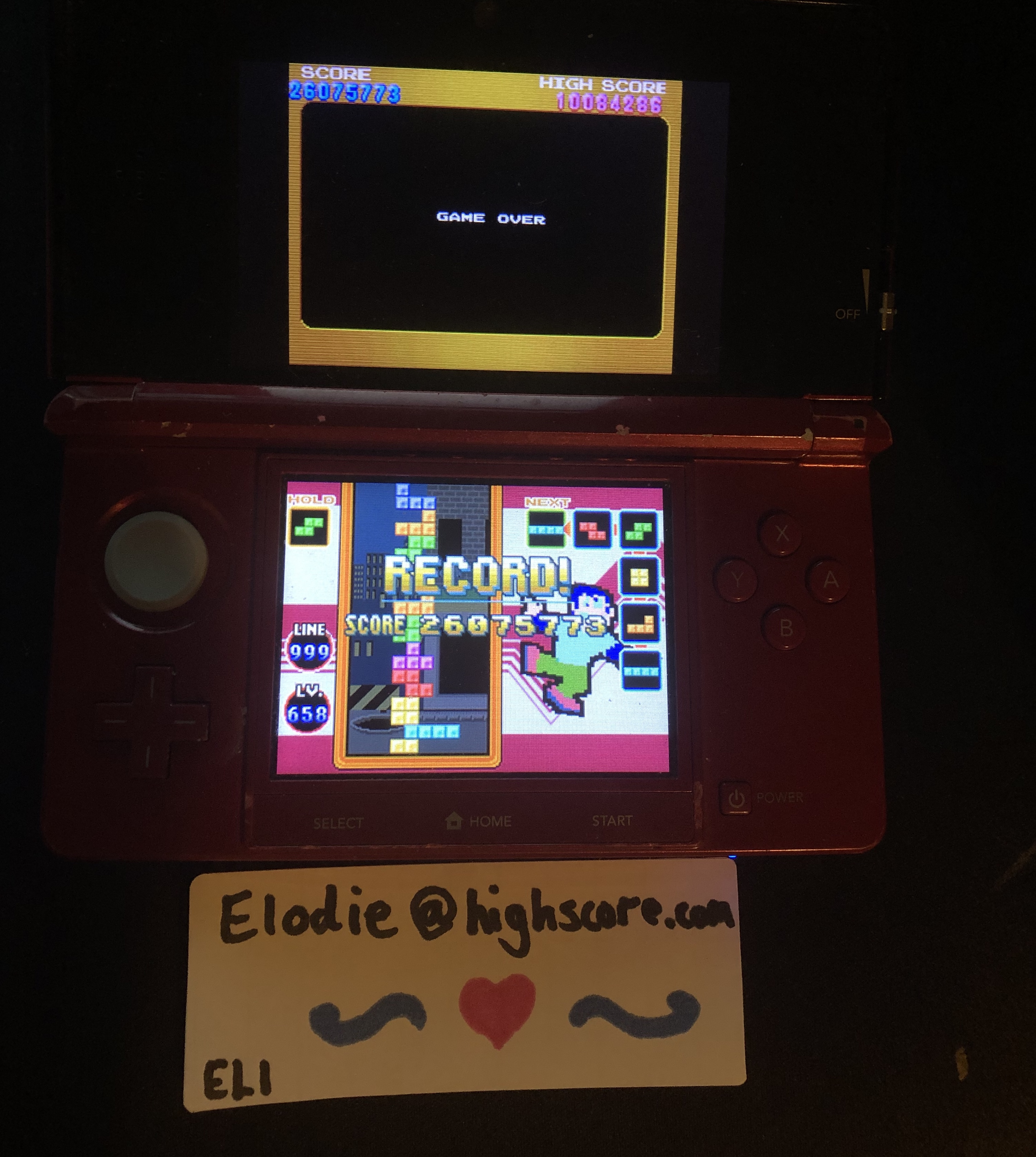 Tetris DS Standard/Marathon [Endless On] 26,075,773 points
