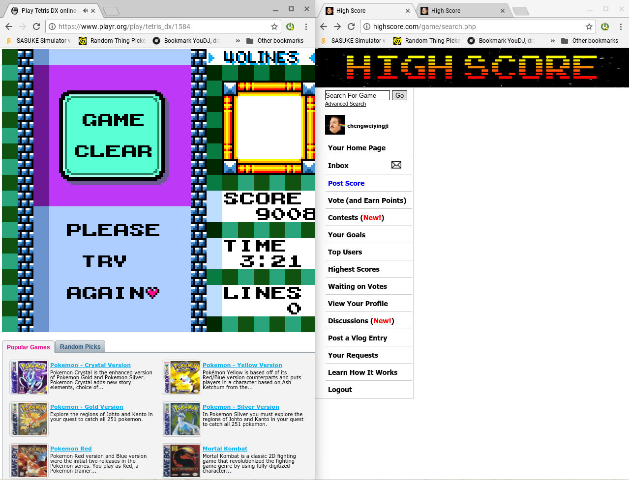 chengweiyingji: Tetris DX: 40 Lines [Level 1/Height 1] (Game Boy Color Emulated) 0:03:21 points on 2018-02-22 12:28:28