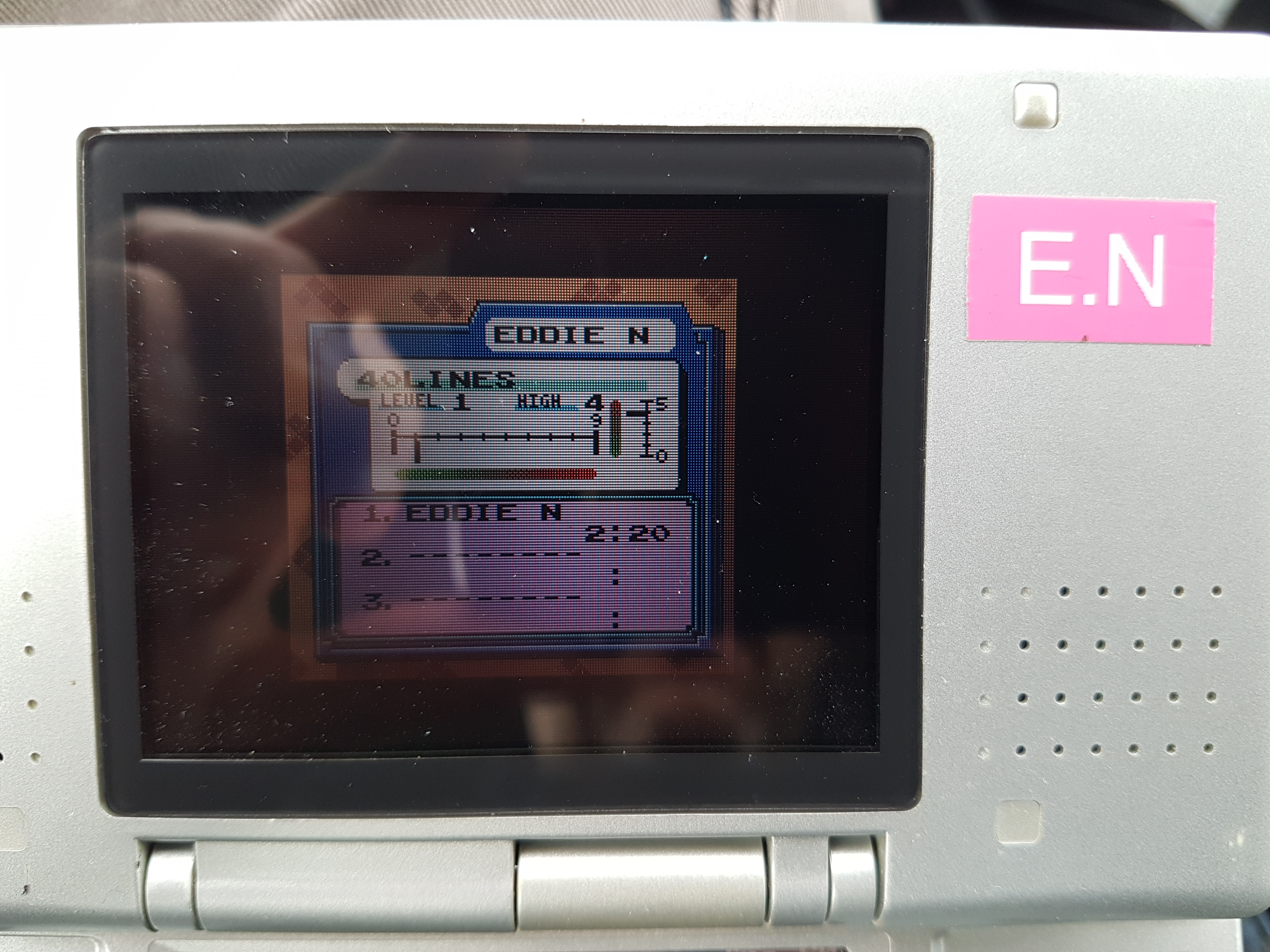 EddieNiceguy: Tetris DX: 40 Lines [Level 1/Height 4] (Game Boy Color Emulated) 0:02:20 points on 2019-01-16 05:49:16