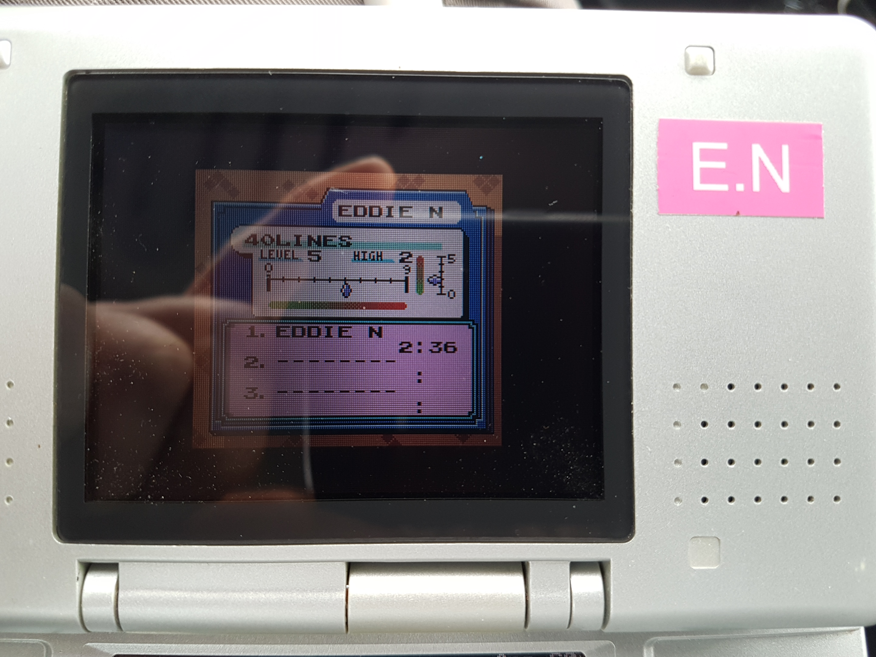 EddieNiceguy: Tetris DX: 40 Lines [Level 5/Height 2] (Game Boy Color Emulated) 0:02:36 points on 2019-01-25 05:33:21