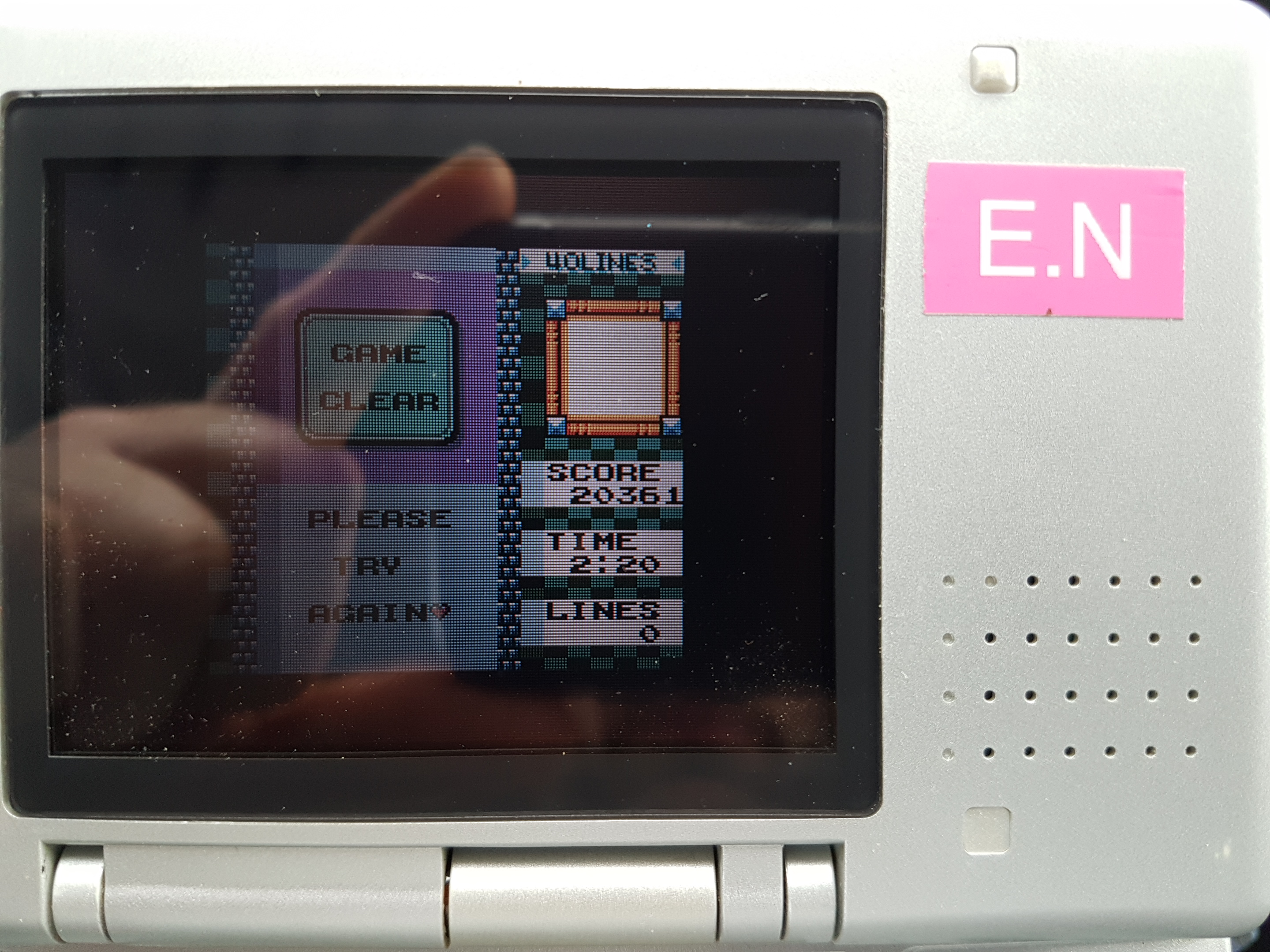 EddieNiceguy: Tetris DX: 40 Lines [Level 5/Height 3] (Game Boy Color Emulated) 0:02:20 points on 2019-01-25 05:38:14