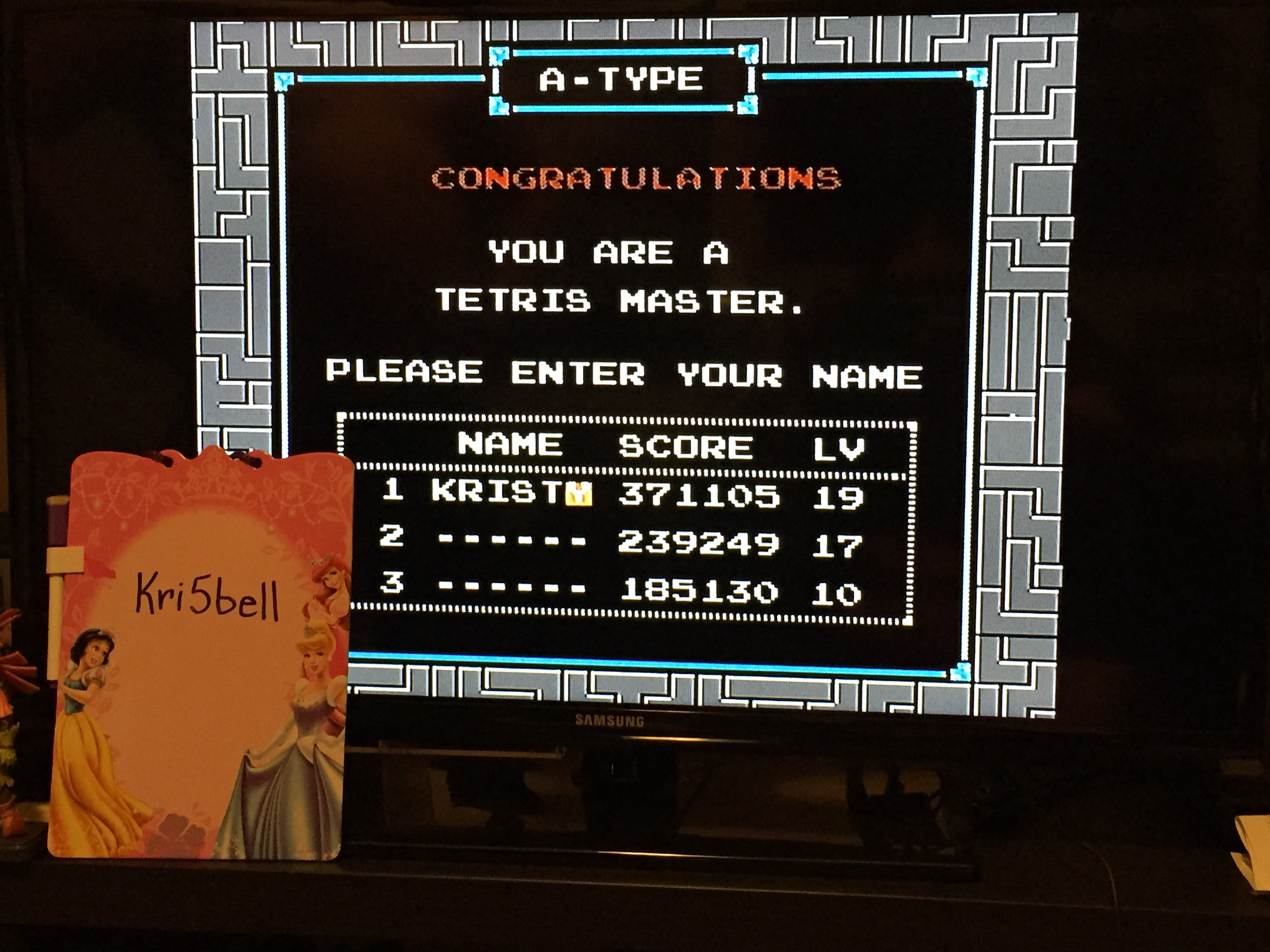 kri5bell: Tetris (NES/Famicom) 371,105 points on 2015-07-26 19:59:08