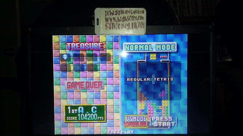 Tetris Plus [Puzzle Mode] [Easy] 104,200 points