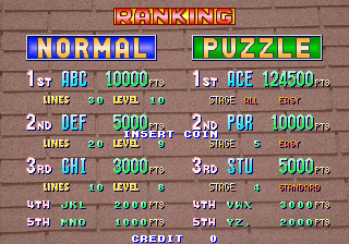 Dumple: Tetris Plus [Puzzle Mode] [Easy] (Arcade Emulated / M.A.M.E.) 124,500 points on 2018-02-11 10:22:25