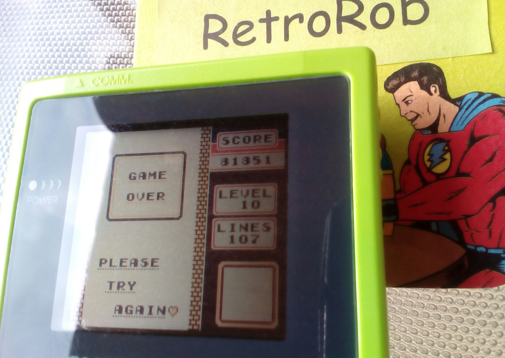 RetroRob: Tetris [Points] (Game Boy) 81,851 points on 2018-08-15 12:32:04