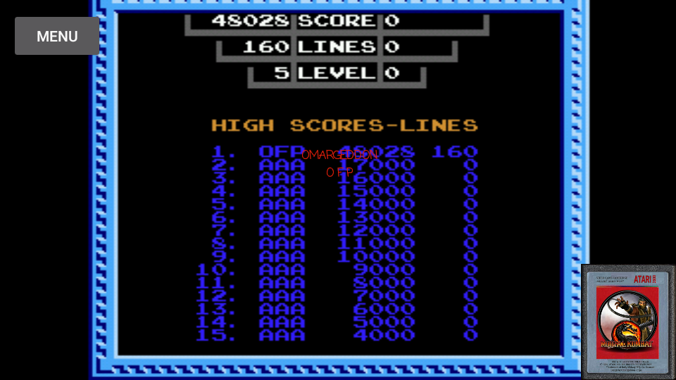 Tetris [Tengen] 48,028 points