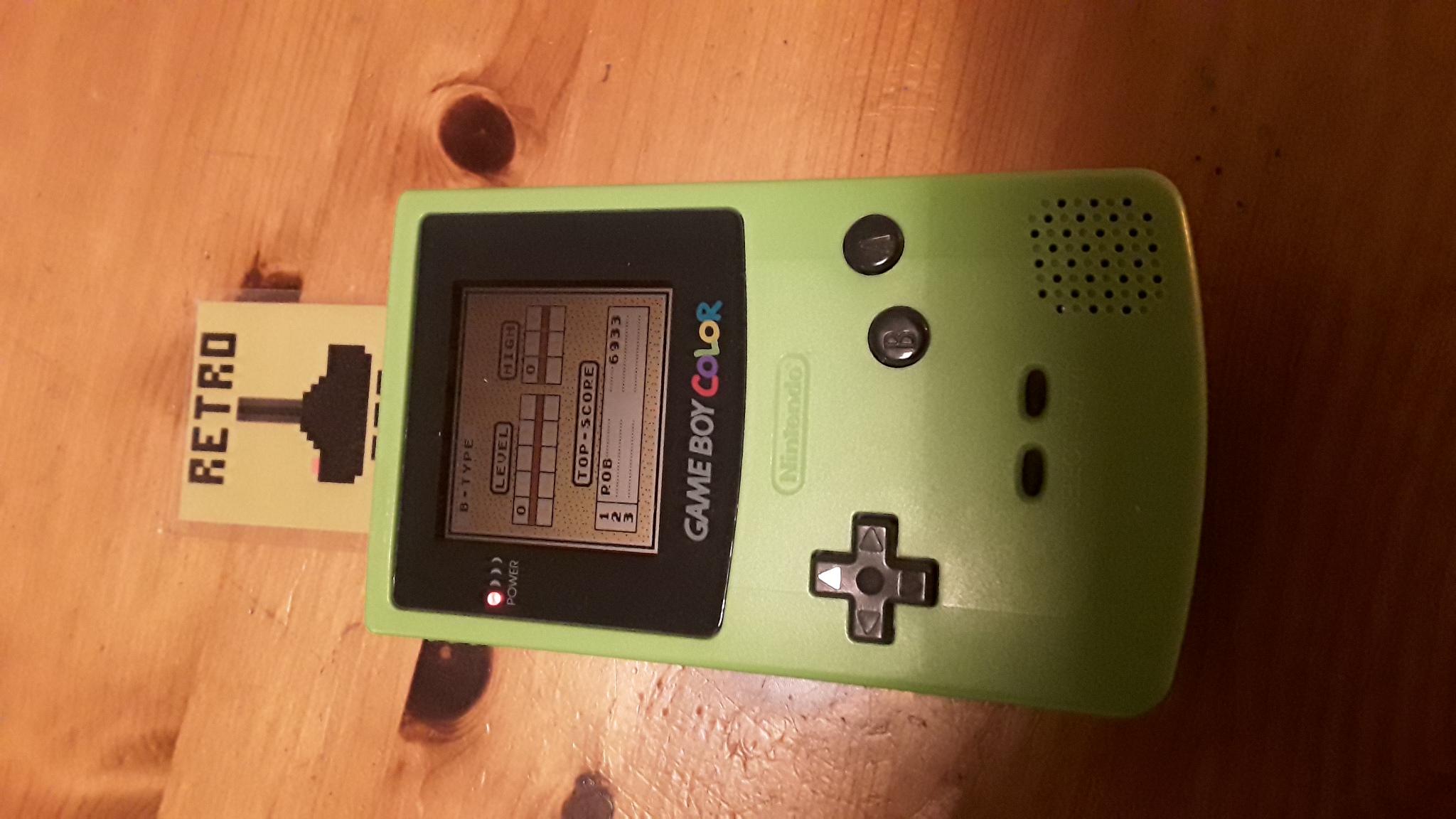 RetroRob: Tetris: Type B [Level 0 / High 0] (Game Boy) 6,933 points on 2020-10-02 13:40:42