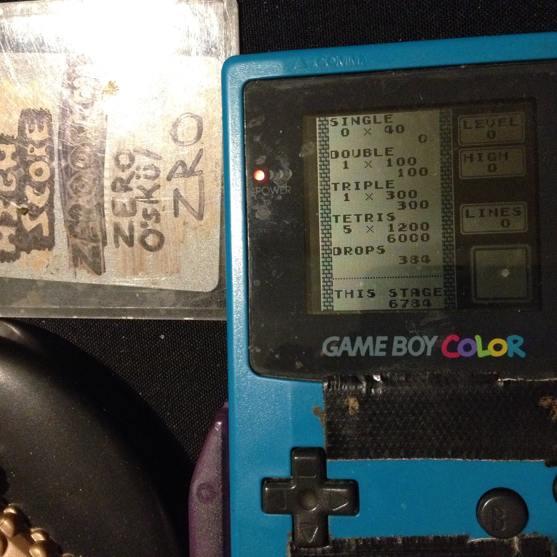 zerooskul: Tetris: Type B [Level 0 / High 0] (Game Boy) 6,784 points on 2019-12-03 15:52:59