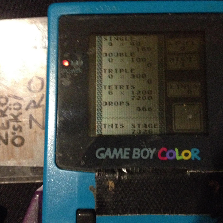 zerooskul: Tetris: Type B [Level 0 / High 1] (Game Boy) 7,826 points on 2019-12-03 16:31:58