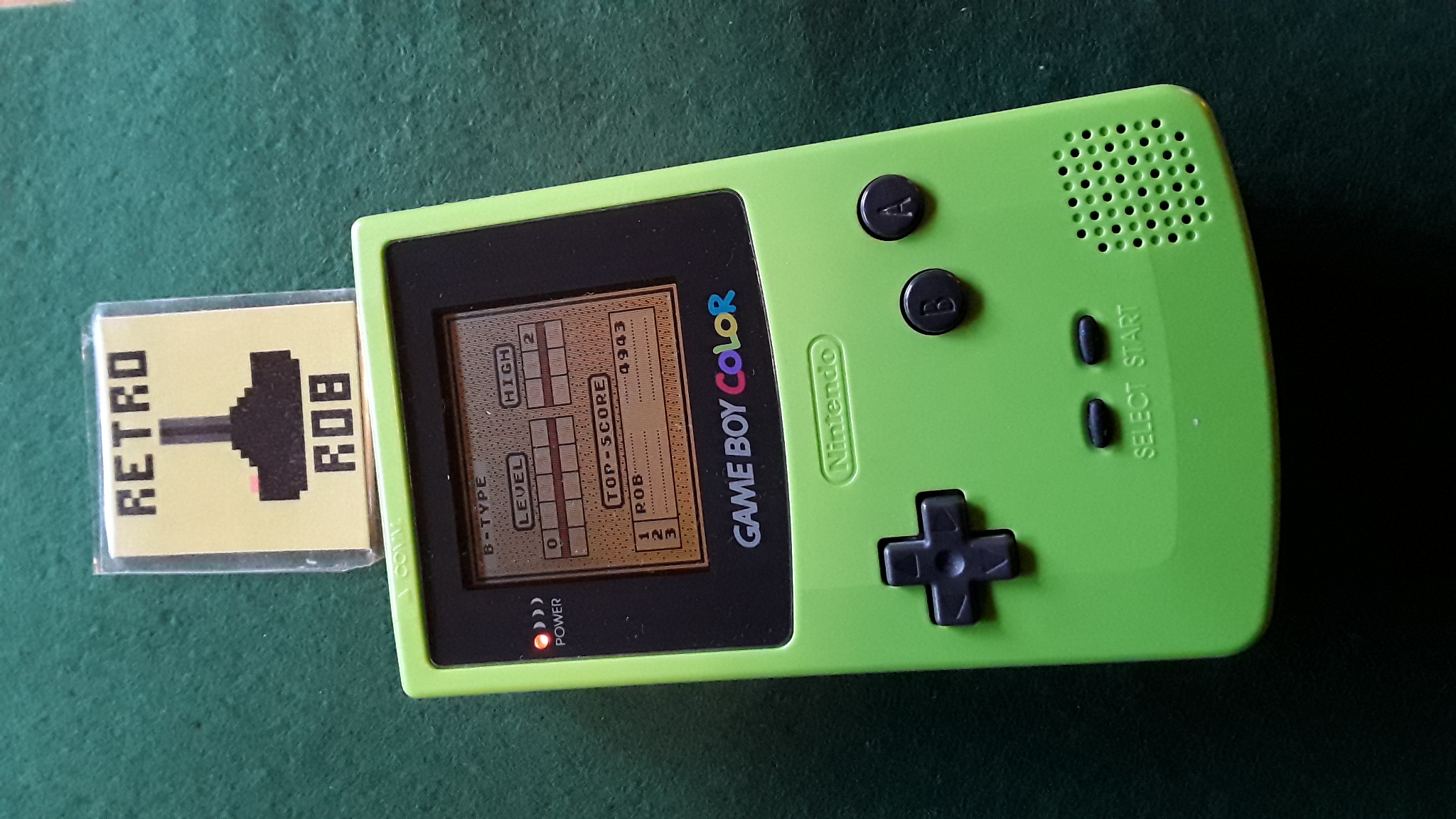 RetroRob: Tetris: Type B [Level 0 / High 2] (Game Boy) 4,943 points on 2020-10-03 08:07:34