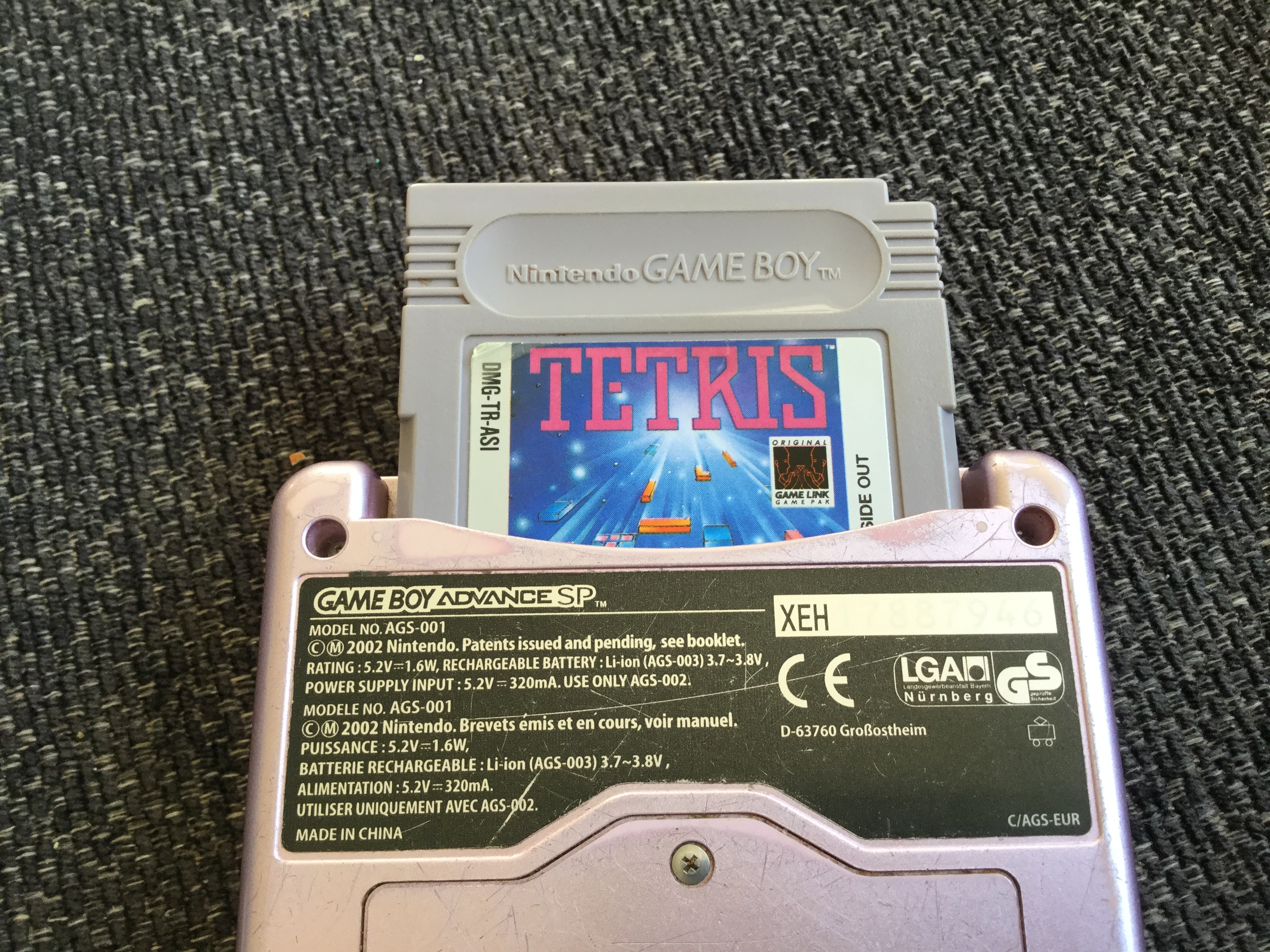 Tetris: Type B [Level 0 / High 2] 2,086 points