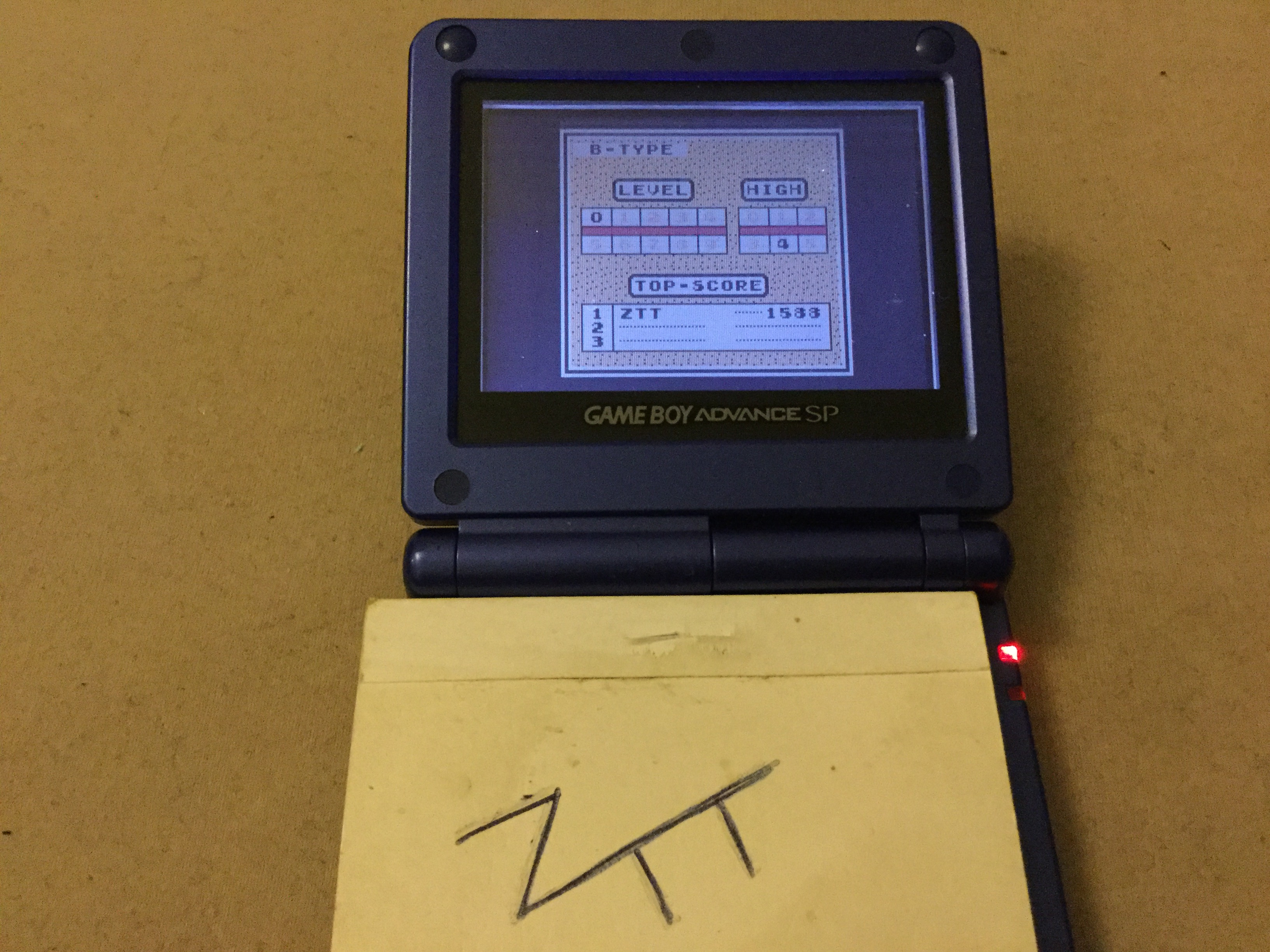 Frankie: Tetris: Type B [Level 0 / High 4] (Game Boy) 1,588 points on 2019-11-13 12:14:43